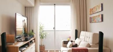Sala pequena bem decorada